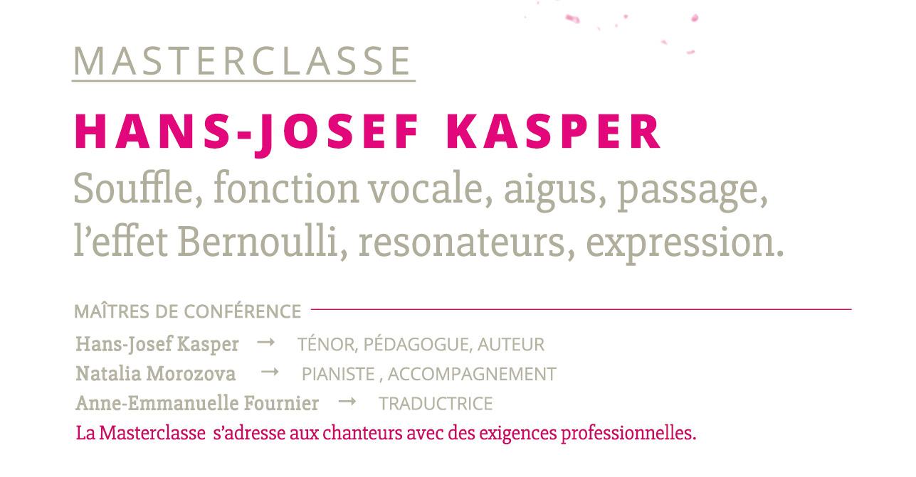 MASTERCLASSE AVEC HANS-JOSEF KASPER